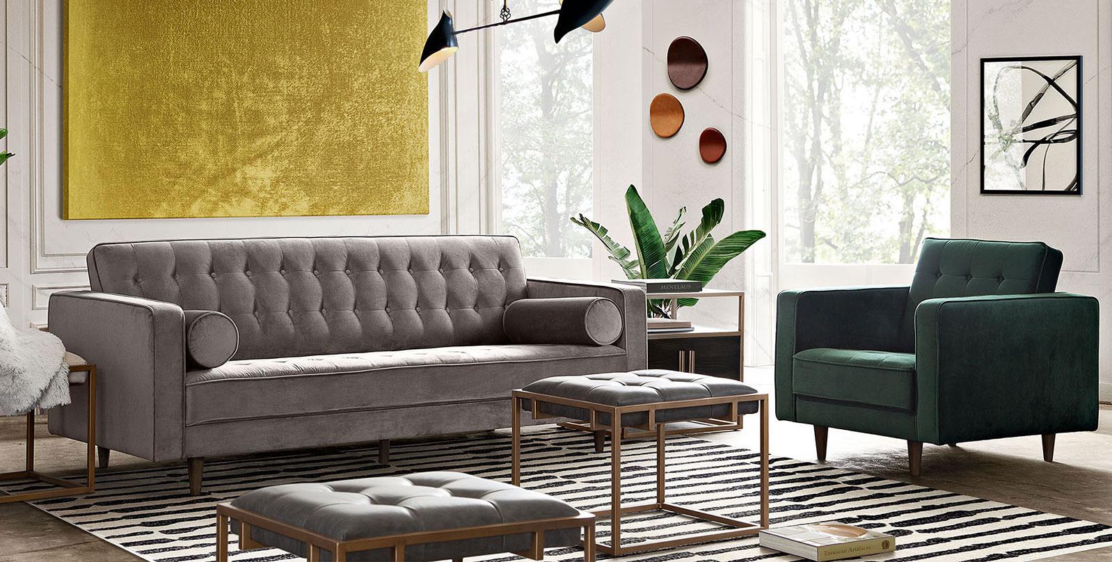 beautifully accessorized livingroom